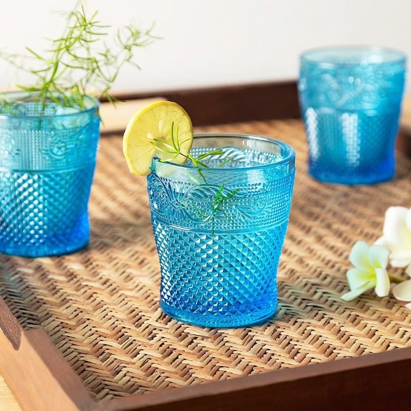 Rey Blue Set Of 6 Glasses 300 Ml