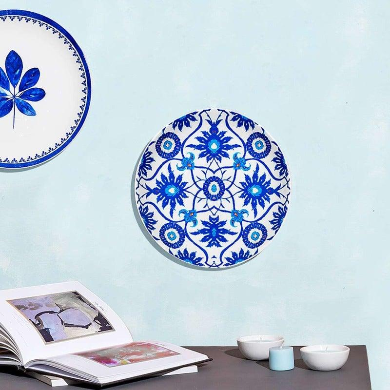 Tapa White & Blue Wall Plate