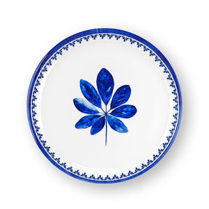 Karima White Blue Wall Plate