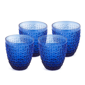 Calcite Drinking Glasses Set Of 4 Light Blue 300 Ml