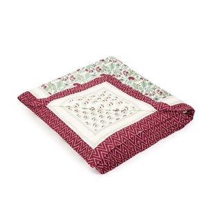 Koshi  90 In X 90 In Red Quilt
