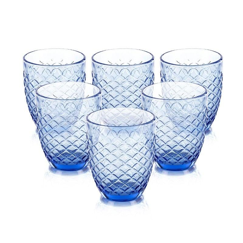 Zaria Blue Set Of 6 Glasses 310 Ml