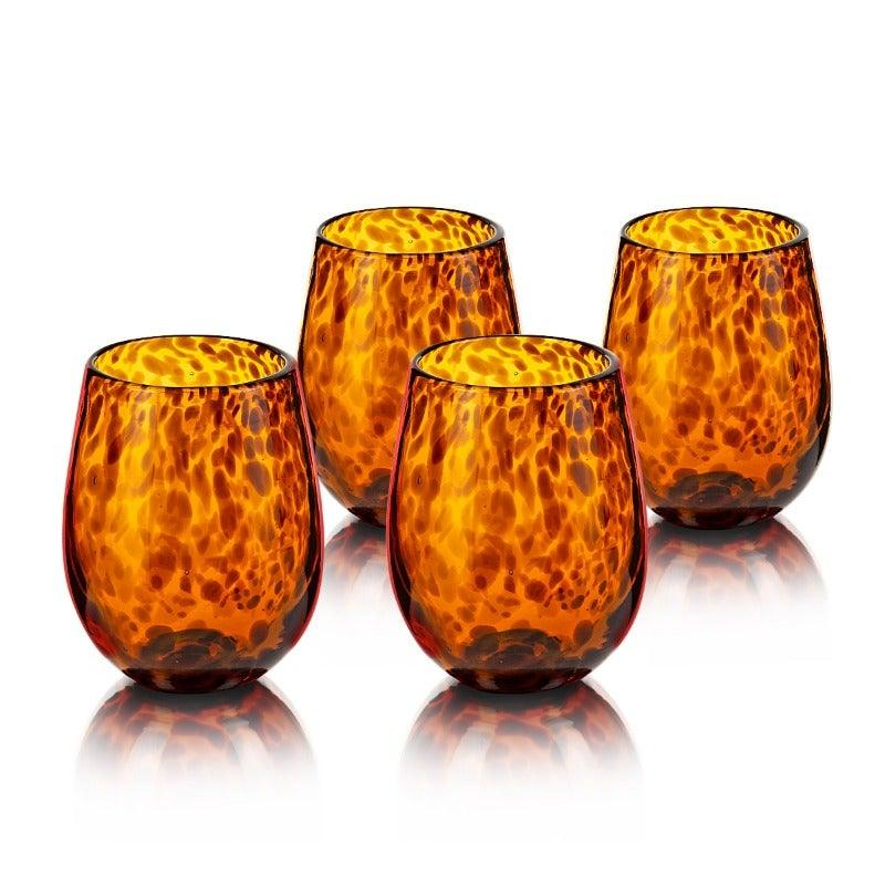 Ames Amber Set Of 4 Glasses 480 Ml