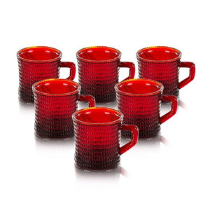 Luca Red Set Of 6 Cup 230 Ml