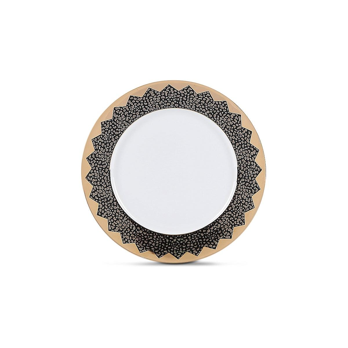 Gold Glamour Side Plate Gold & White