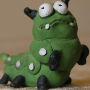 Brucho Green Caterpillar Mini Object