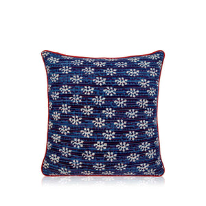 Cushion 18 In X 18 In Blue Cushion Cover
