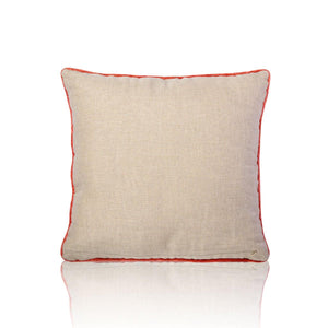 Myra 18 In X 18 In Red Cushion Cover