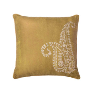 Ochre 20 In X 20 In Yellow Cushion Cover