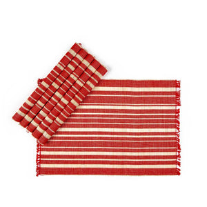 Chic Placemat Set Of 6 Red