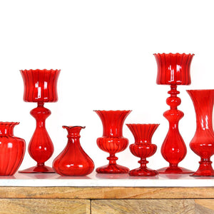 Vidro Red Candle Holder Large