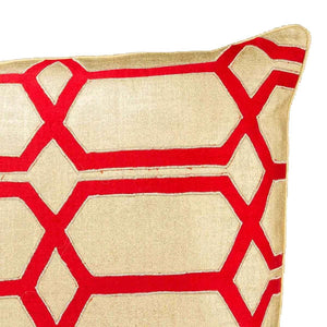 Natalaya 18 In X 18 In Cushion Cover Gold/Poppy