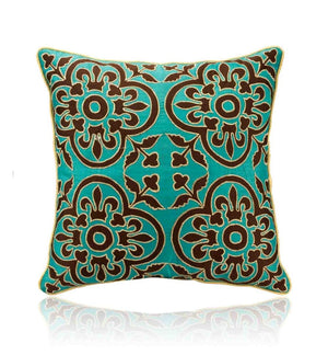 Estela 16 In X 16 In Green Cushion Cover
