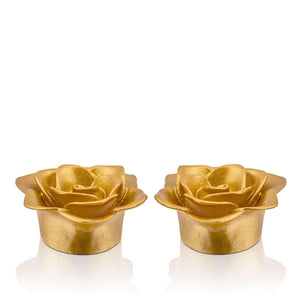 Floating  Gold Candle Set Of 2