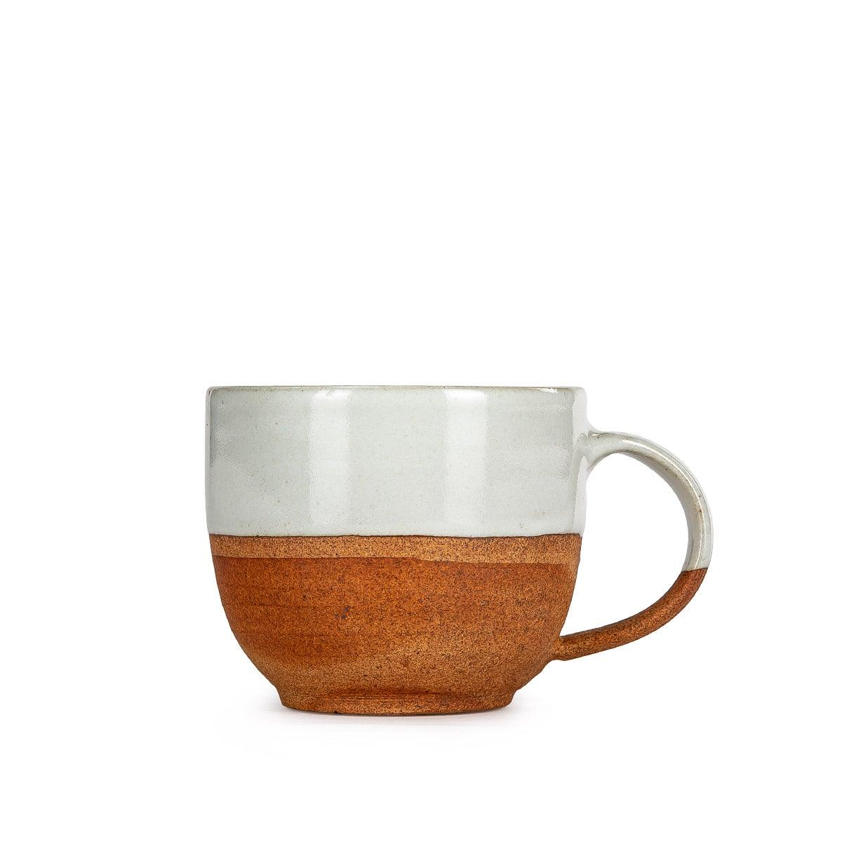 Fable Gundu Slanting Mug White & Brown