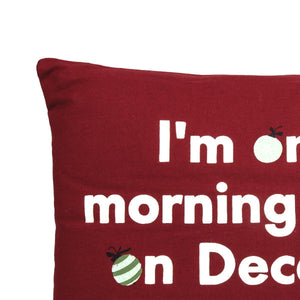 X Mas 12 In X 16 In Red Cushion Cover