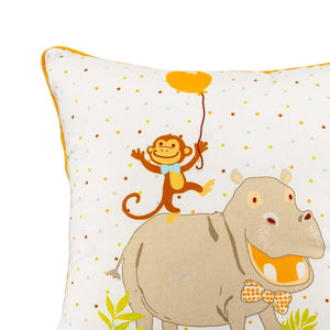 Hippo Monkey 18 In X 18 In Multi Cushion Cover Set Of 2