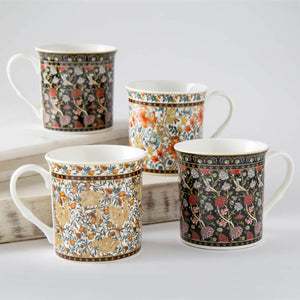 Persian Mug Set Of 4-Assorted Multi
