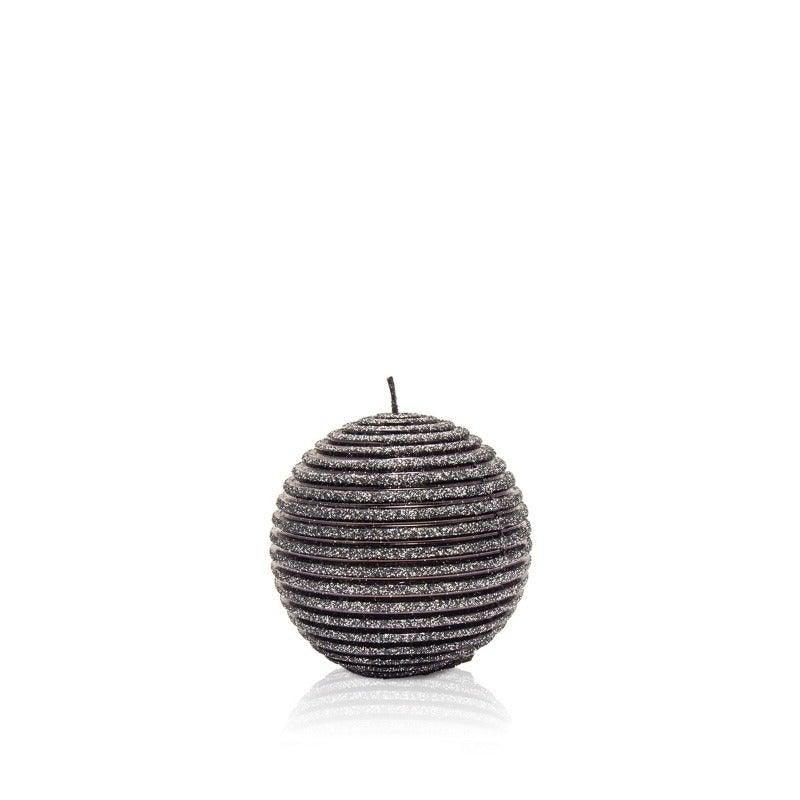 Glitter Black Candle Ball, Set Of 3
