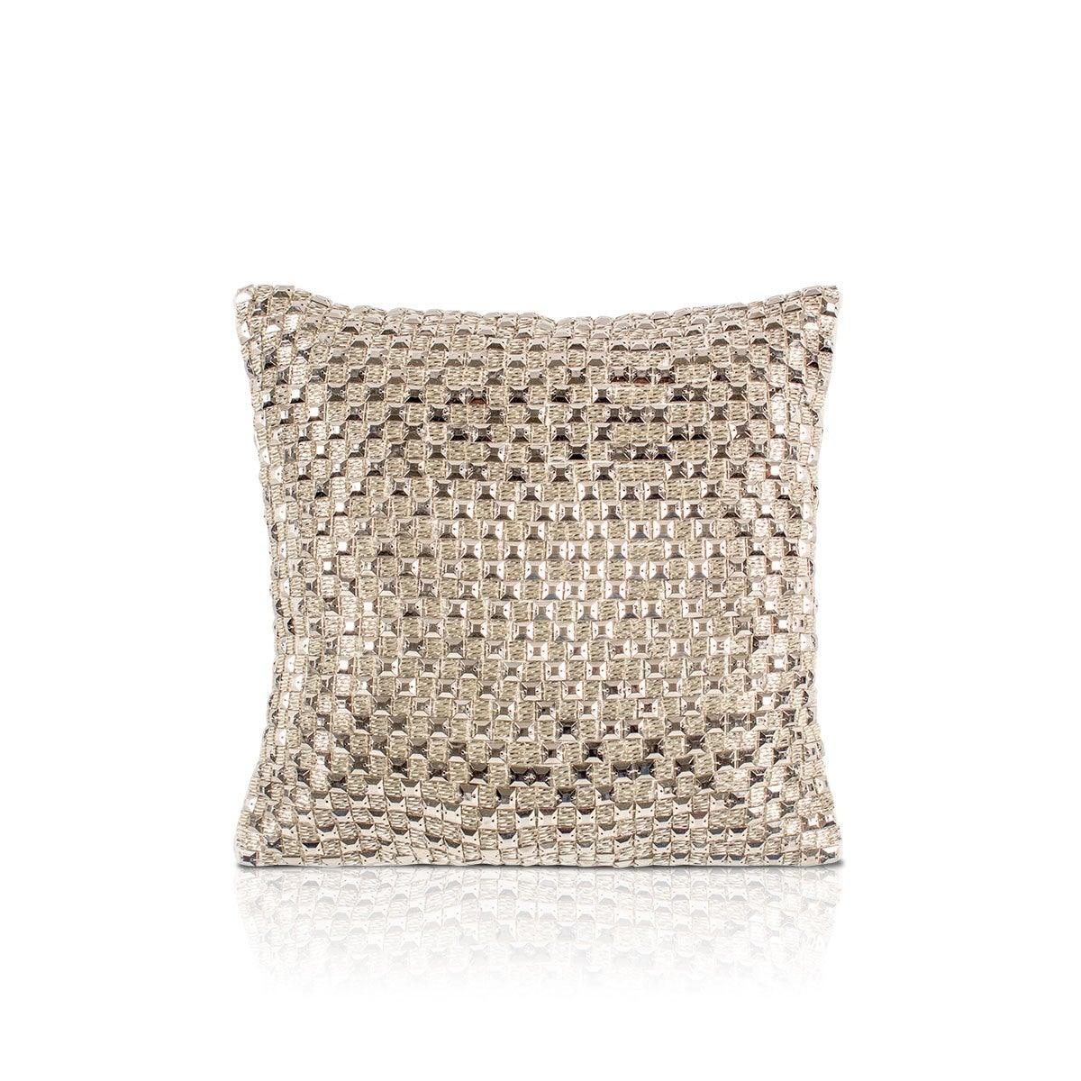 Aabir 12 In X12 In Ivory Cushion Cover