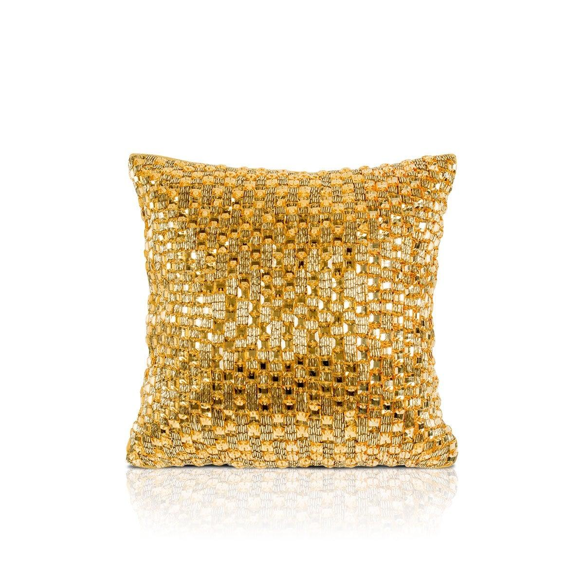 Aabir 12 In X12 In Gold Cushion Cover