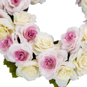 Rose Flower Wreath Ivory