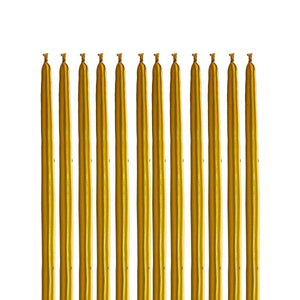 Mini-Dipping Gold Candles, Set Of 12