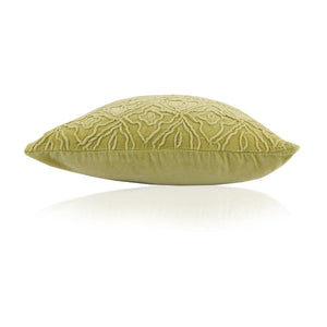 Zuba 18 In X 18 In Green Cushion Cover