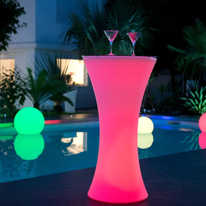 Comptoir bar lumineux sans fil LED multicolore dimmable BAR PARTY H110cm avec télécommande - REDDECO.com