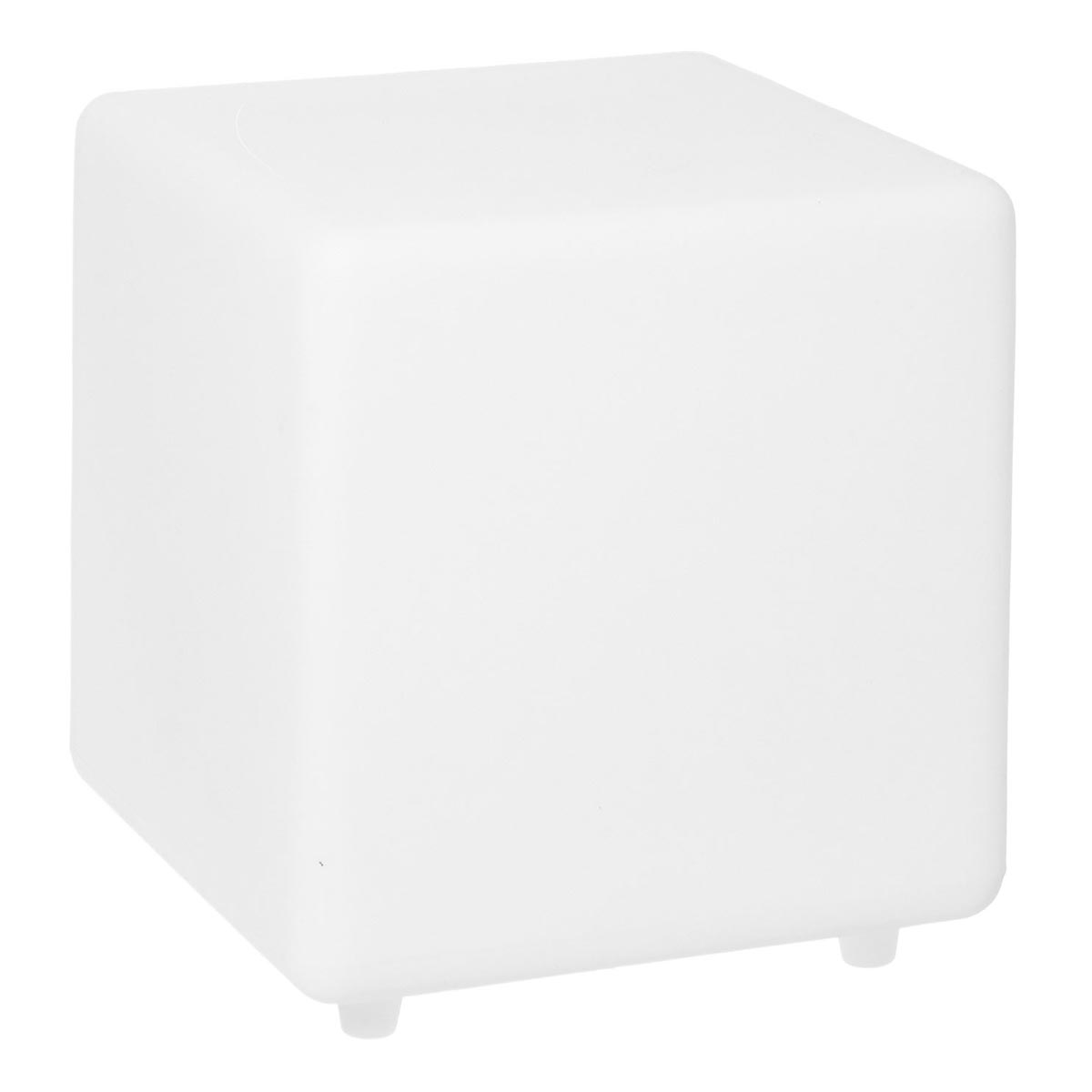Cube solaire lumineux tabouret table basse LED blanc/multicolore CASY H30cm - REDDECO.com