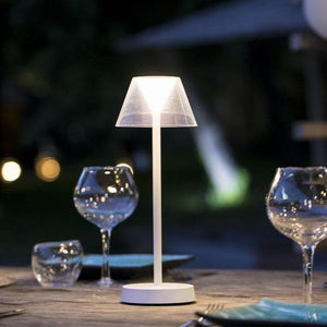 Lampe de table sans fil LED blanc chaud BEVERLY WHITE H34cm - REDDECO.com