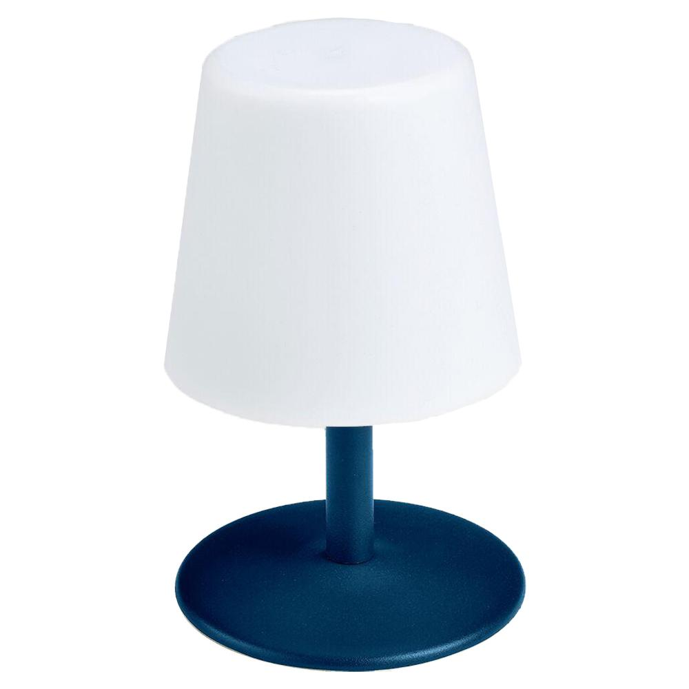 Lampe de table LED sans fil pied en acier Oxford Blue STANDY MINI H25 Collection Capsule - REDDECO.com