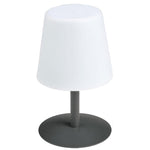 Charger l'image dans la galerie, Lampe de table LED sans fil pied en acier Stone Grey STANDY MINI H25 Collection Capsule - REDDECO.com