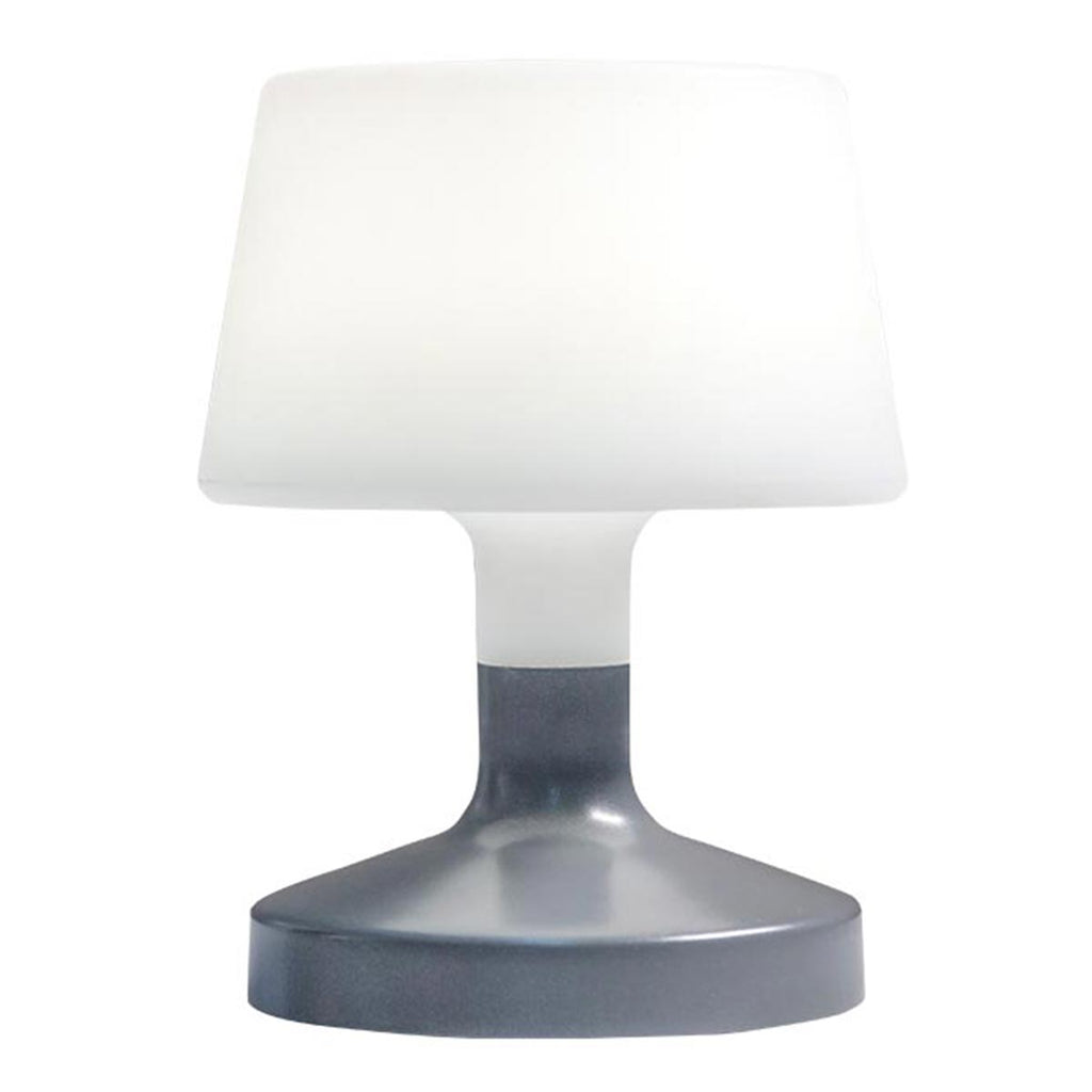 Lampe de table touch design sans fil pied en acier gris LED blanc chaud/blanc dimmable HELEN ROCK H21cm - REDDECO.com