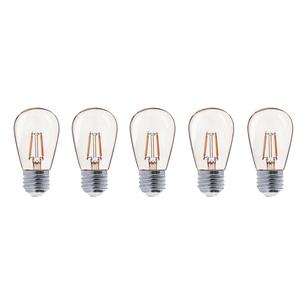 Lot de 5 ampoules LED E27 blanc chaud filament vintage compatible guirlande PARTY BULB FILAMENT H9cm - REDDECO.com
