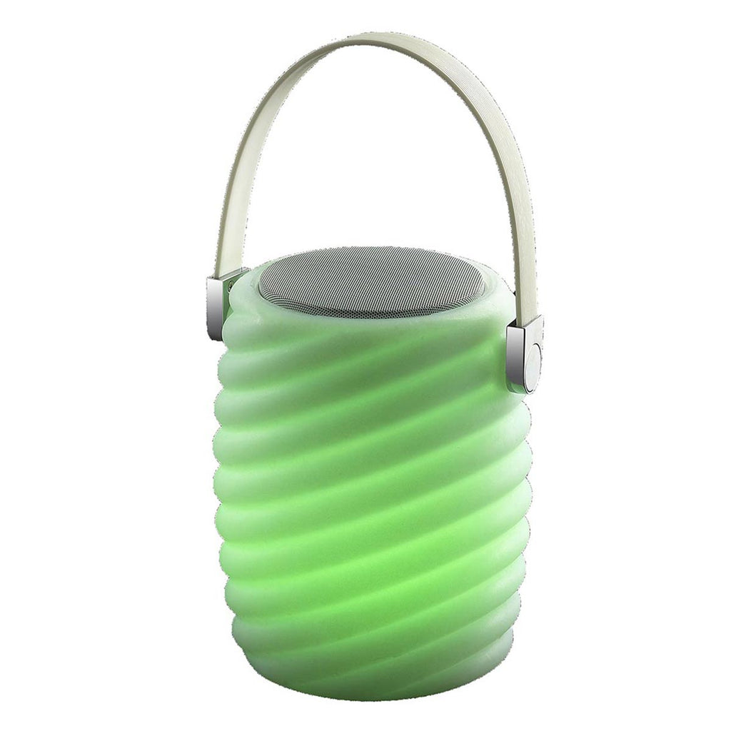 Mini baladeuse musicale bluetooth sans fil LED blanc/multicolore dimmable MINI RAY PLAY H28cm avec télécommande - REDDECO.com