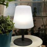 Charger l'image dans la galerie, Lot de 4 Lampe de table sans fil pied en acier gris LED blanc chaud/blanc dimmable STANDY MINI Rock H25cm - REDDECO.com