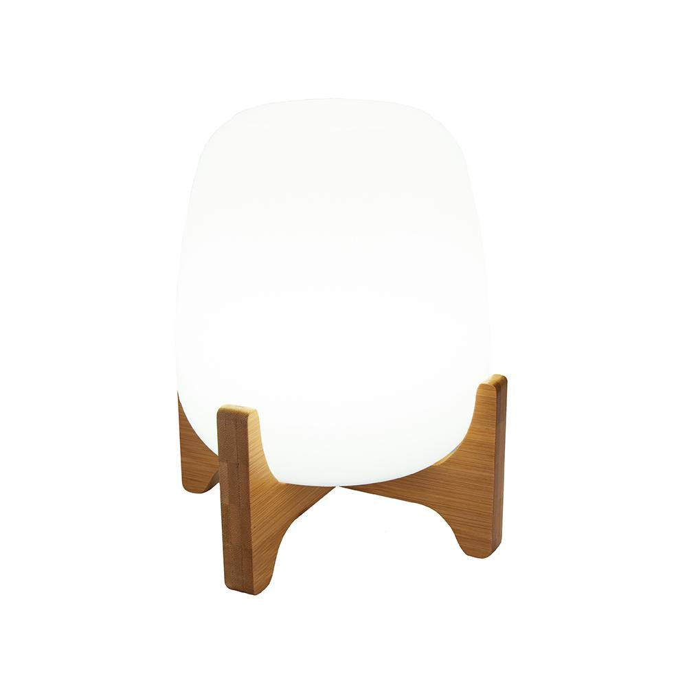 Lampe de table sans fil  avec support en bois dimmable PALMY H26cm LED blanc/multicolore - REDDECO.com