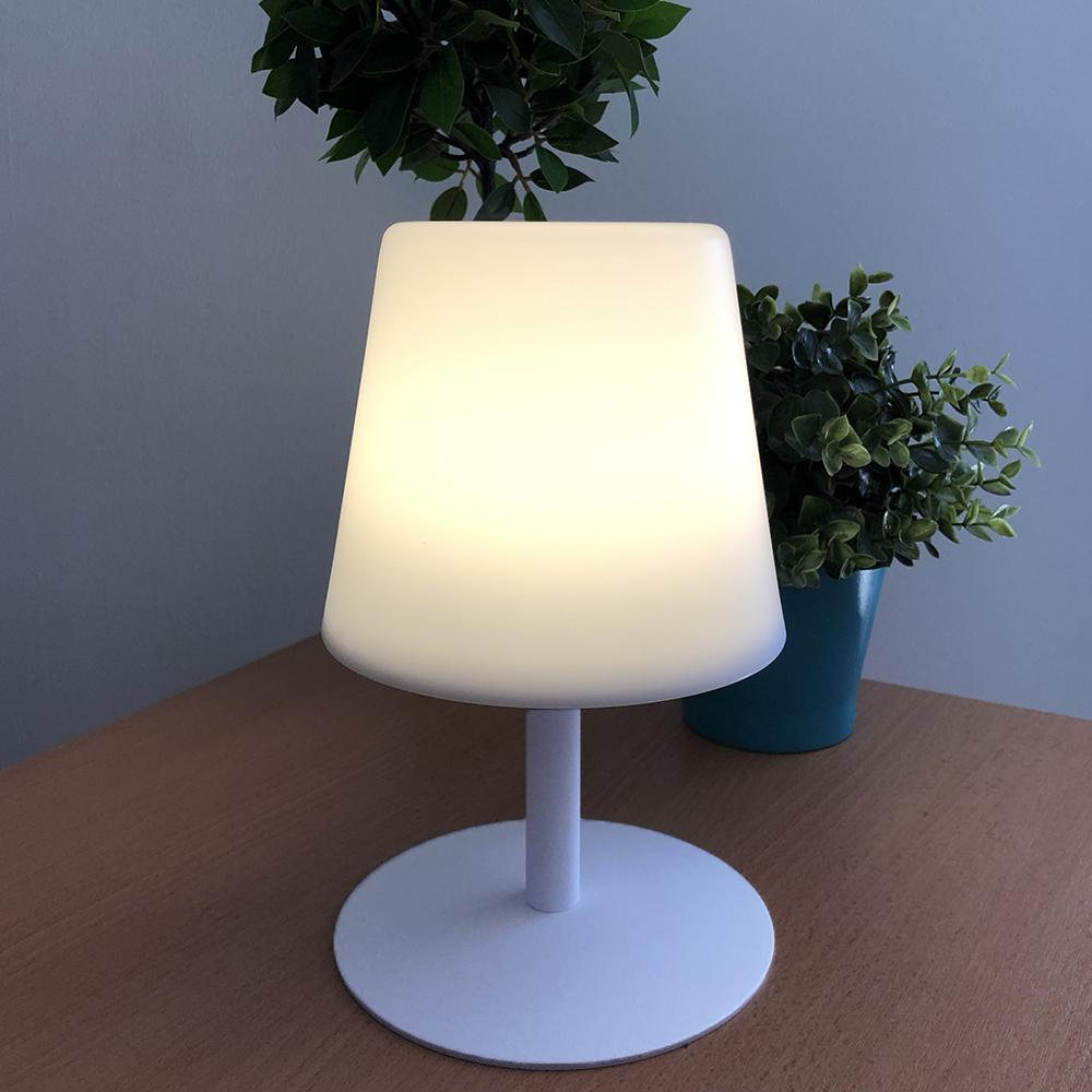 Lampe de table LED sans fil pied en acier Wimborne White STANDY MINI H25 Collection Capsule - REDDECO.com