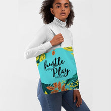 Load image into Gallery viewer, Hustle Hard Play Harder Tote Bag