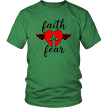Load image into Gallery viewer, Faith Over Fear t-shirt