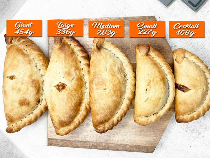 Cornish Pasty Size Chart