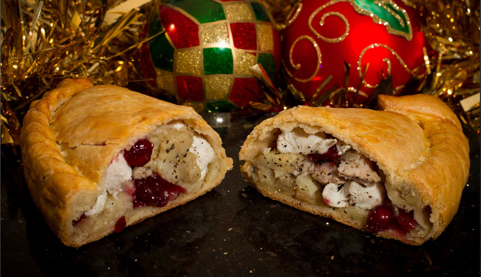 Turkey, Stuffing and Cranberry Pasties by Post