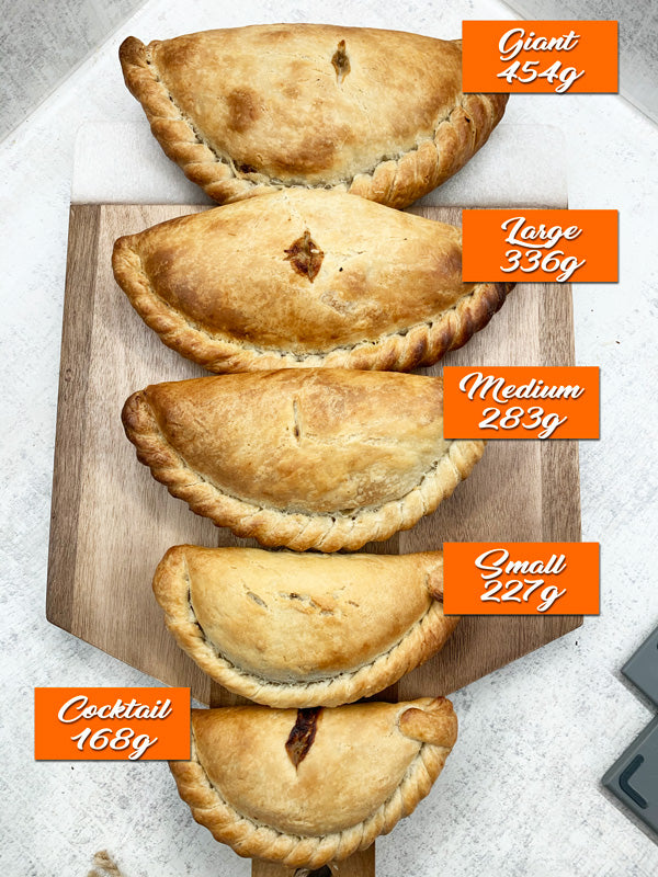 Cornish Pasty Sizes