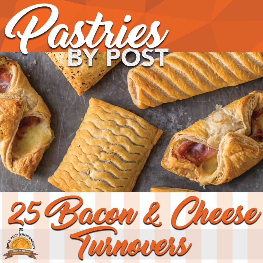 25 x Bacon & Cheese Turnovers - Proper Pasty Company
