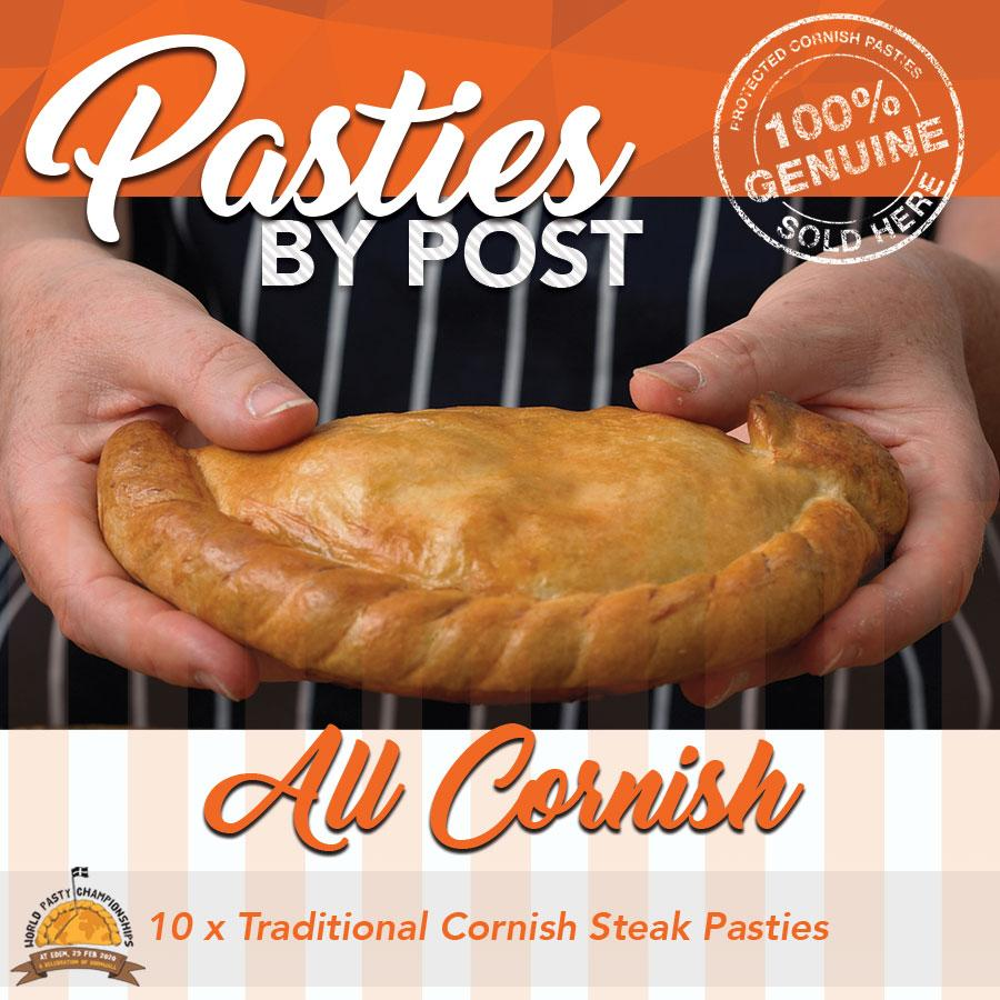 'All Cornish' Steak Pasties by Post (10) - Proper Pasty Company