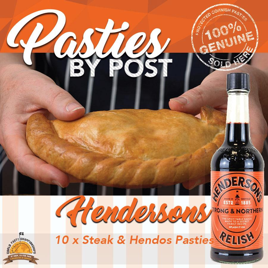 All Steak & Hendersons Pasties by Post (10) - Proper Pasty Company