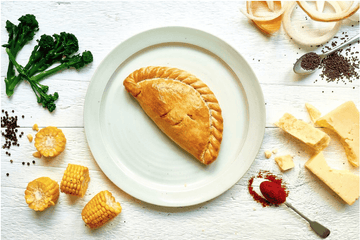 Cheese, Broccoli & Sweetcorn Pasty 283g. (36 No. Boxed) - Proper Pasty Company