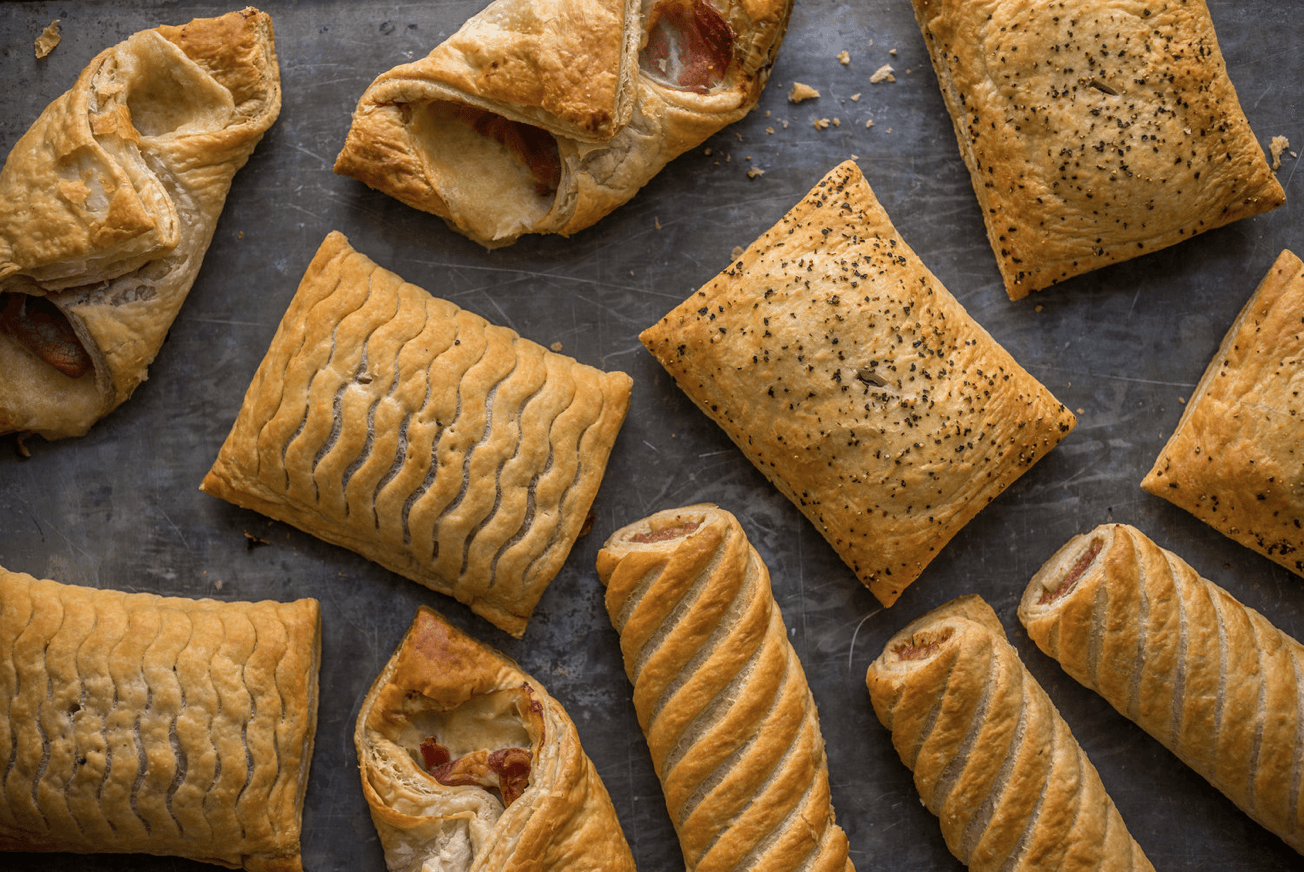 Chicken and Mushroom Slice 160g. (36 No. Boxed) - Proper Pasty Company