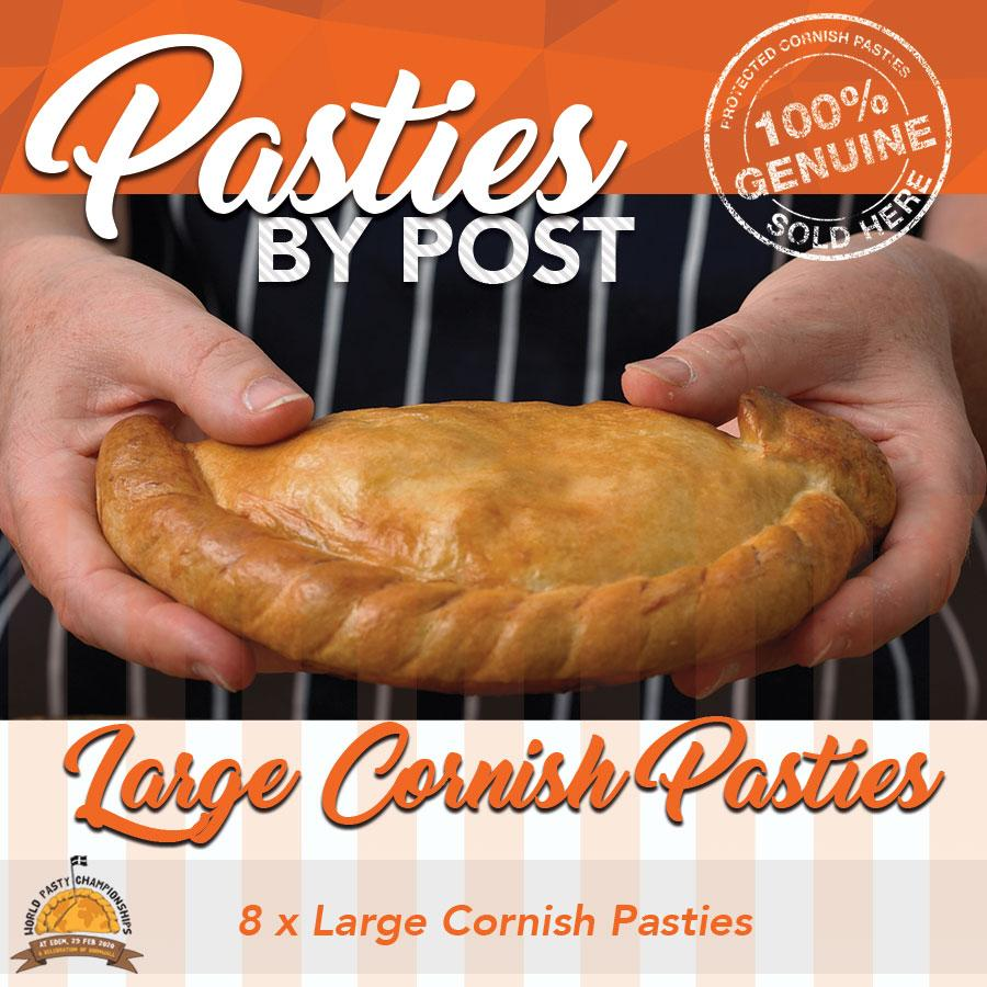 Large Cornish Pasties by Post (8) - Proper Pasty Company